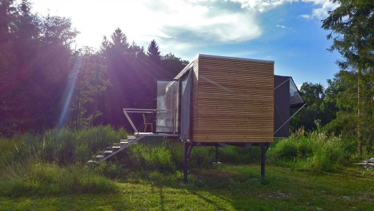 Containerhaus auf Wechselbrücke © simple-home.at