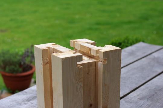Holzprofil mit 6-seitiger Nut